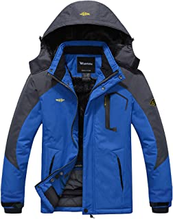 Wantdo Men's Winter Outdoor Windproof Waterproof Fleece Ski Jacket