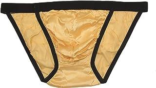 Paradise Silk Men's Silk Low Rise String Bikini Briefs