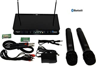 Hisonic HS236 Bluetooth VHF Handheld Wireless Microphone System Portable and Rechargeable Battery Installed,2 Handheld Microphone