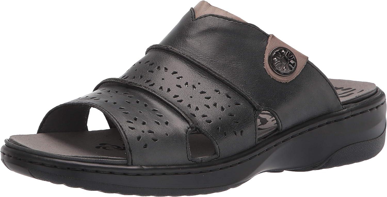 Propet Women's Gertie Slide Sandal, Black, 10 Wide