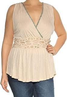 Womens Megan Peplum Knit Blouse
