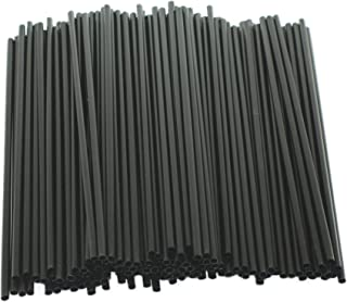 "[2000 Count] 5"" Black Disposable Cocktail Straws Compostable PLA Stirrer Drink Restaurant Bar Specialty Drinks Stir Cafe Cappuccino Frappe 5 inches Long, Made of Corn, PLA, Sustainable"