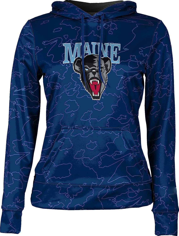 ProSphere University of Maine Girls' Pullover Hoodie, School Spirit Sweatshirt (Topography)