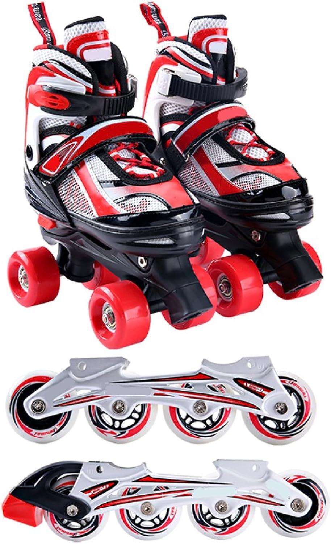 PIAOL Inline-Skates Für Kinder Einstellbar,rot-L B07JWGM5T9  Angemessene Lieferung und pünktliche Lieferung