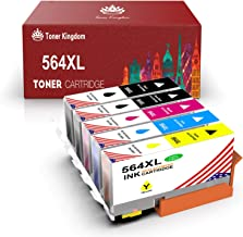Toner Kingdom Compatible Ink Cartridge Replacement for HP 564XL for HP OfficeJet 4620 DeskJet 3520 3522 PhotoSmart 7510 7520 7525 5510 5520 6520 6525 C309a (Black, Photo Black, Magenta, Cyan, Yellow)
