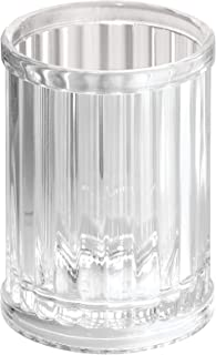 iDesign Alston Plastic Tumbler Cup, Holder for Makeup Brushes, Toothbrushes, Gl, Brushes on Bathroom, Vanity Countertops, ...