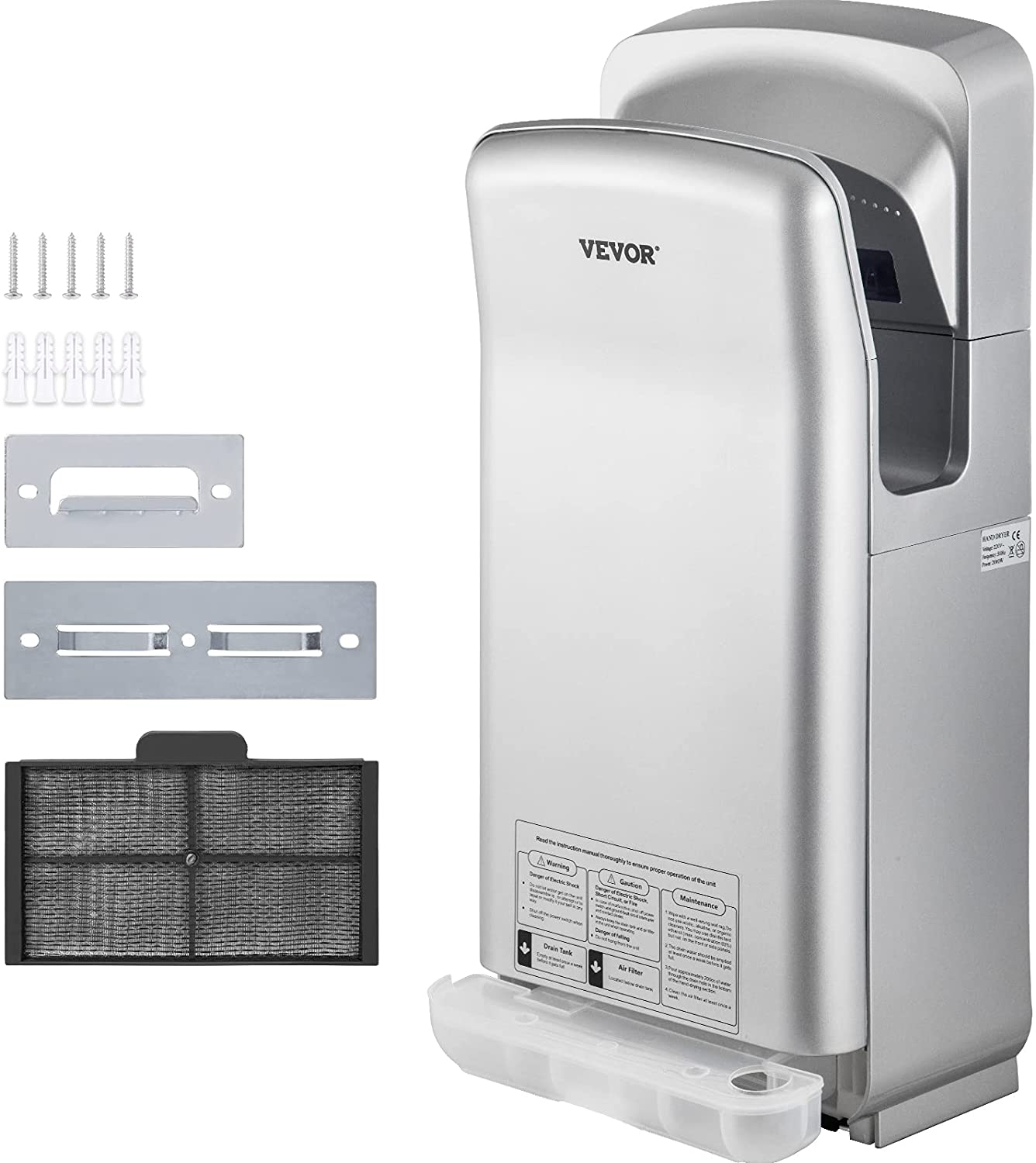 VEVOR Jet Hand Dryer Premium Dry NEW before selling Commercial Ranking TOP4 Blade Electric