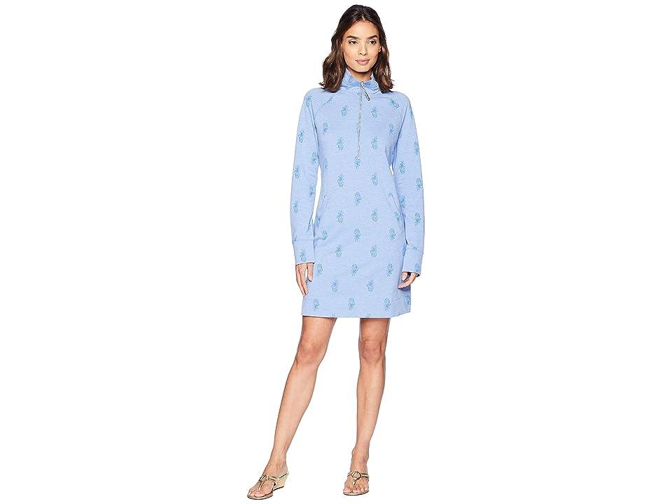 Lilly Pulitzer Skipper Dress (Bennet Blue Pineapple Burnout) Women
