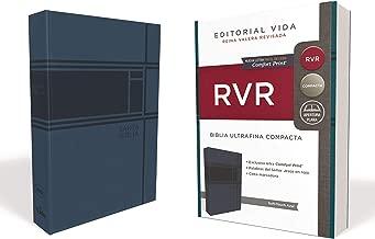 RVR Santa Biblia Ultrafina Compacta, Soft-touch, Azul (Spanish Edition)