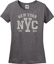 Utopia Sport New York City NYC Established 1664 Distressed Ladies T-Shirt (S-3X)