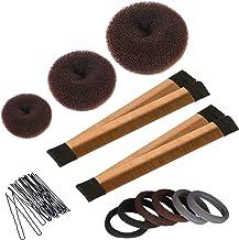 Haarknotenmacher Set 3 Stück Donut Dutt Maker, 2 Stück Ins
