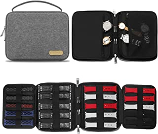 Simboom Watch Bands Storage Bag, Nylon Spill-resistant Watch Band Organizer Bag Carrying Case Travel Watch Straps Carrying...