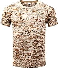 Hombre Verano Casual Camisetas Camufladas Tecnicas Manga Corta Secado Rápido Aire Libre Remeras Dry Fit Transpirables T Shirt Training Top