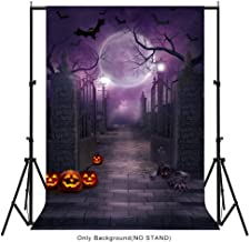 Aytai 5x7ft Halloween Backdrops Halloween Photo Cloth for Halloween Decoration, Haunted House Moonlight Pumpkin Bat Background for Photography, Halloween Party Supplies