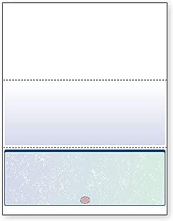 DocuGard Blue/Green Prismatic Bottom Check, 8.5 x 11 Inches, 24 lb, 500 Sheets, 1 Check Per Sheet (04537)