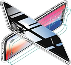 Compatible with iPhone Xs Max Mobile Phone case, [Airbag Series] with [2 x Tempered Glass Screen Protector] [Military Grad...