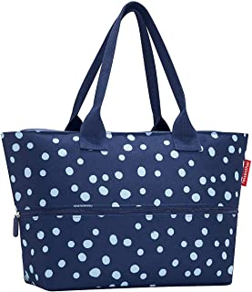 reisenthel Shopper E1, Expandable 2-in-1 Tote, Converts from Handbag to Oversized Carryall, Spots Navy