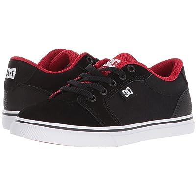 DC Kids Anvil (Little Kid/Big Kid) (Black/Red) Boys Shoes
