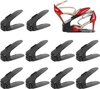 FEMOR Lot de 10 Support à Chaussures Réglables,Empiler Les Chaussures,Organiseur de Chaussures,Economie d'Espace à Chaussu...