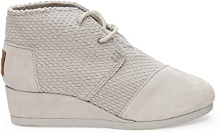 TOMS Grey Suede Perfed Youth Desert Wedge Grey 10004716