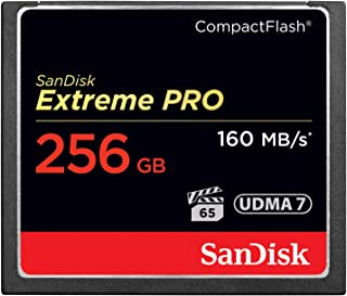 SanDisk SDCFXPS-256G-X46 Extreme PRO 256GB CompactFlash VPG-65 UDMA 7 (Up to 160MB/s Read, 140MB/s Write) CF Memory Card ,...