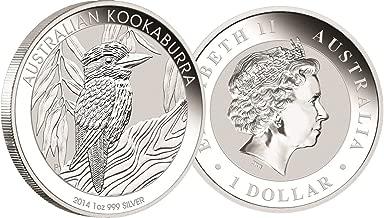 2014 AU Austrailian Kookaburra Silver Coin 1 Ounce Silver Dollar Mint Uncirculated