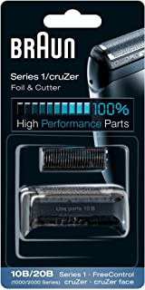 Braun 10B Replacement Foil & Cutter Cassette Multi Black BLS Combi Pack