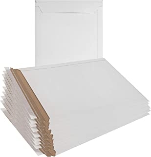 10 Pack Mailjackets Rigid Mailers 9 x 11.5 Large Paperboard Envelopes 9 x 11 1/2. Stay Flat, Cardboard, No Bend Mailers. Peel and Seal. Wholesale Price.