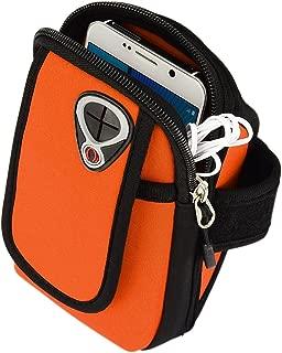 Zippered Workout Running Sports Gym Armband Pouch Case for Samsung Galaxy S10 / S10 Plus/OnePlus 7 / ZTE Blade V10 / Motorola Moto G7 / G7 Plus / G7 Power/LG G8 ThinQ/LG V50 ThinQ (Orange)