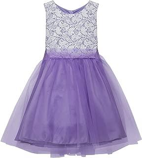 Big Girl Stretch Lace Tulle Skirt Husky Plus Size Flower Girl Dress