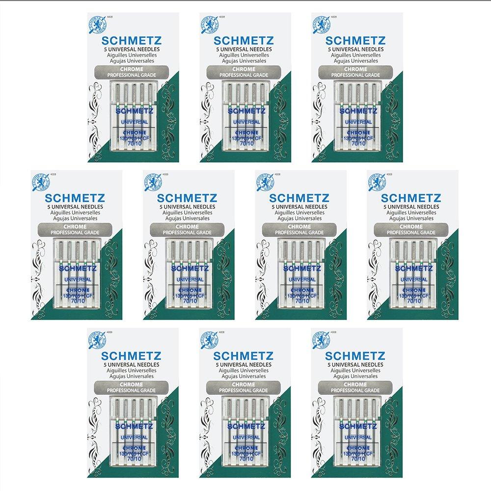 10 x 5 Agujas SCHMETZ Cromo Universal Size 70/10