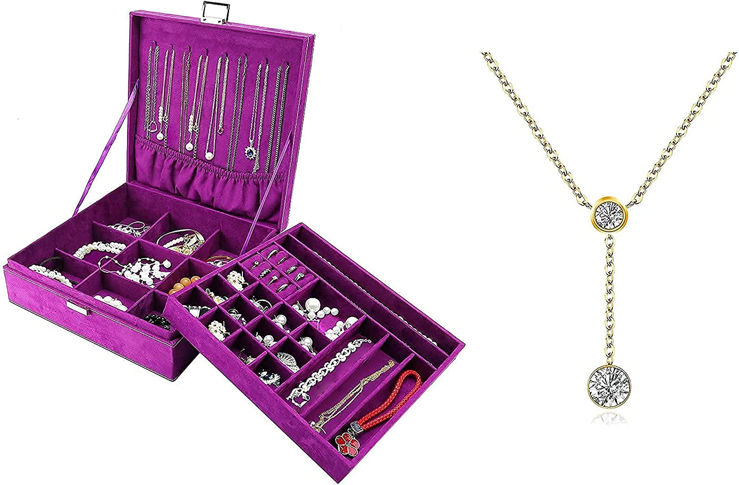 ProCase Jewelry Popular products Box Organizer for with Lolale Girls Women Max 87% OFF Bundle