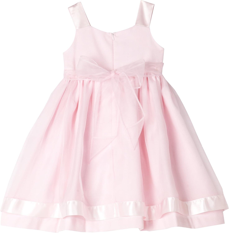 Bonnie Jean Little Girls' Toddler Girls Linen Dress With Organza Overlay