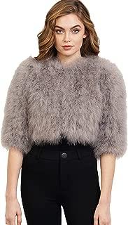 Leana Genuine Ostrich Fur Bolero Jacket