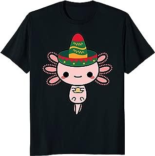 Happy Axolotl Cinco Mexican Tacos Sombrero T-shirt