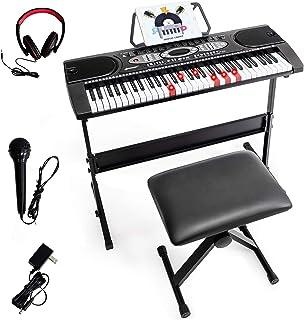 Costzon 61-key Electronic Keyboard w/Lighted Key, LED Screen