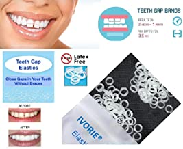 IVORIE Teeth Gap Bands Orthodontic Bands Clear Dental Elastic Bands 100/Pk (5/16