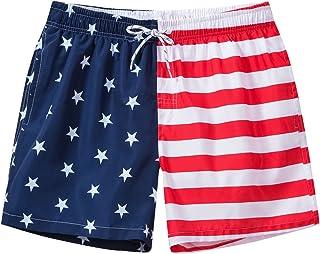 男性水着 海水パンツ メンズ サーフパンツ 海パン ビーチパンツ 水陸両用 通気速乾 インナー付き かわいい柄 オシャレ