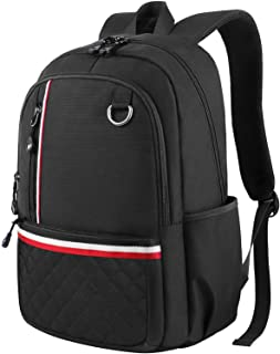 Elementary School Backpack, Casual Backpack for Girs Boys, Cute Lightweight Backpack Water-Resistant Slim Laptop Bag for Student, Fits 14 inch Laptop - Black