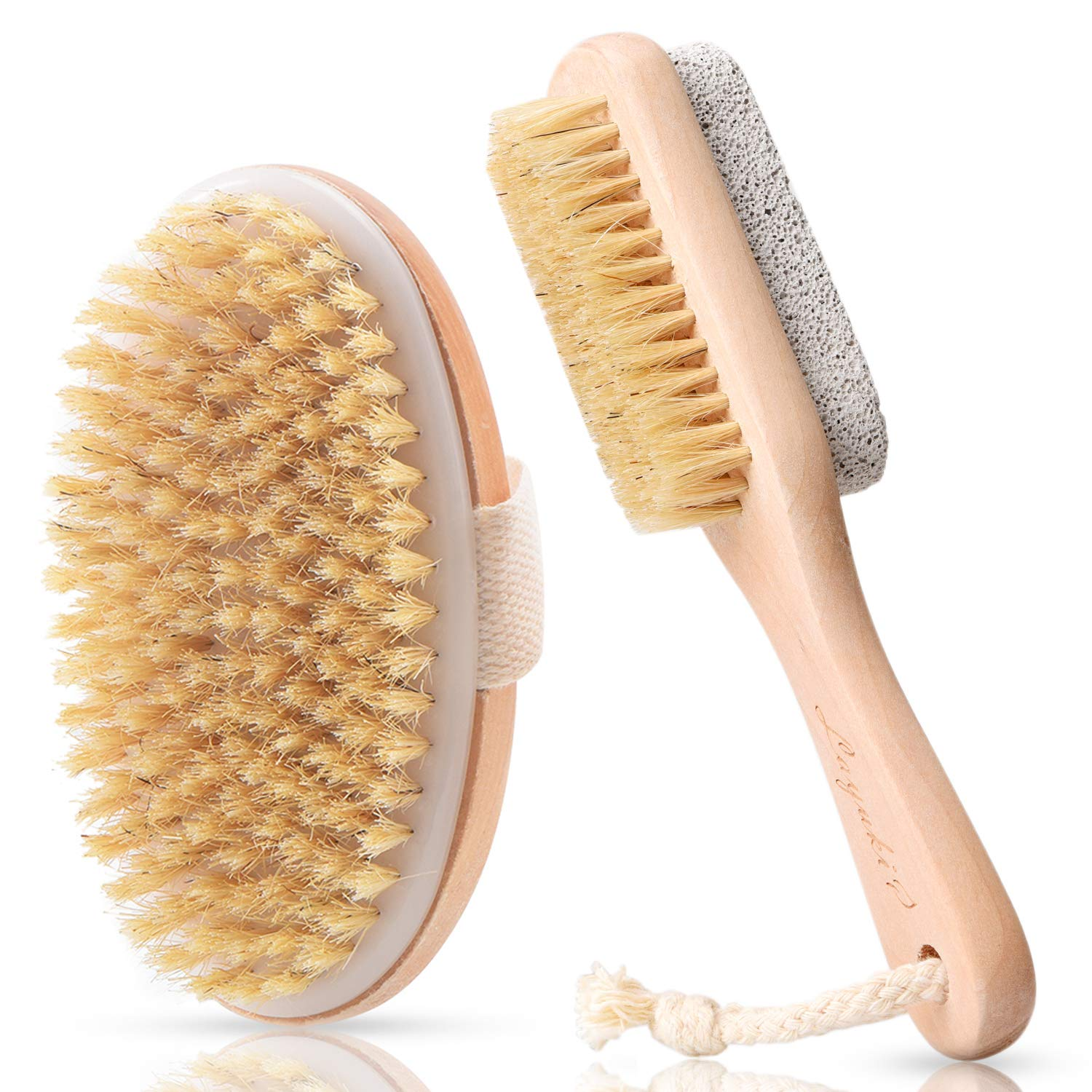 LAYUKI Body Brush for Dry or Wet 2-sided Free quality assurance Shipping Cheap Bargain Gift Foot Brushing File and