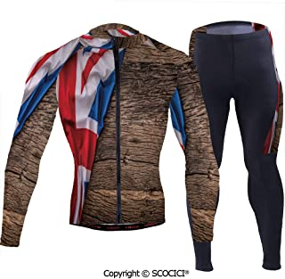 Outdoor Bicycle Rider Bicycle Suit Bicycle Wear,Flag of United Kingdom on Old Oa