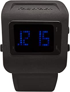 38011PP01 - Fastrack Men's DIGITAL, 50m Water Resistant, Black Dial, Silicone Strap, Black