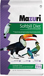 Mazuri   Softbill Diet for Iron-Sensitive Birds   15 Pound (15 lb) Bag