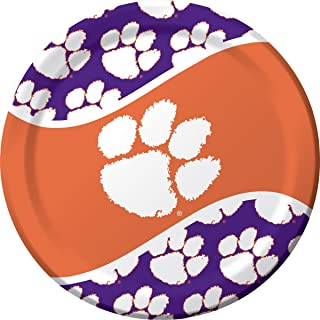 Creative Converting 8-Count Paper Dinner Plates, Clemson Tigers - 424831