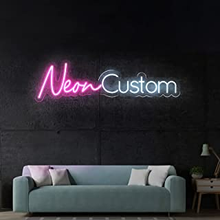 LC Custom Neon Signs for Bedroom, Wedding Party, Personalized Dimmable Neon Sign for Wall Art, Birthday Gift Giving Name N...