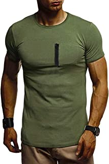 T Shirts for Men MISYYA Color Match Button Tee Breathable Undershirt Muscle Tank Top Masculinity Polo Shirt Mens Tops