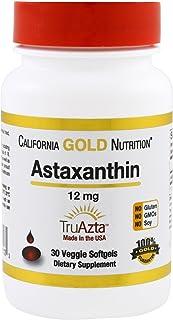California Gold Nutrition, Astaxanthin, Extra Strength Antioxidant Carotenoid, 12 mg, 30 Veggie Softgels, Packaging May Vary
