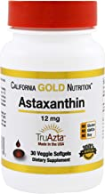California Gold Nutrition Astaxanthin Extra Strength Antioxidant Carotenoid 12 mg 30 Veggie Softgels, Milk-Free, Egg-Free,...