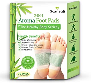 Samsali Foot Pads, Upgraded 2 in 1 Nature Foot Pads, Rapid Foot Care and Pain Relief, Higher Efficiency Than Foot Sleeve a...