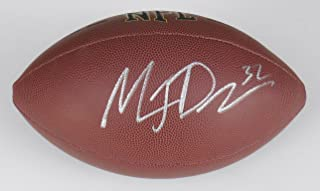 maurice jones drew autographed football